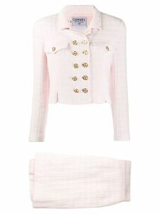 Chanel Pre-Owned tweed jacket and skirt suit - Pink