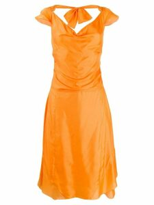 Céline Pre-Owned ruched A-line dress - Orange