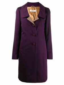 Prada Pre-Owned single-breasted coat - Purple