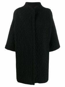 Versace Pre-Owned textured cocoon jacket - Black
