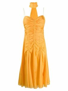Céline Pre-Owned ruched midi dress - Yellow