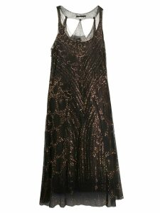 Jean Paul Gaultier Pre-Owned sequinned layered dress - Brown