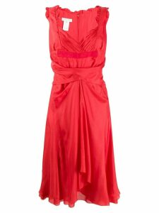 Céline Pre-Owned sweetheart neck dress - Red