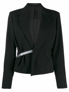 Yohji Yamamoto Pre-Owned half belt jacket - Black