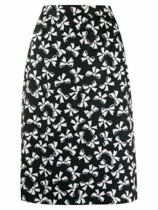 Yves Saint Laurent Pre-Owned bow print skirt - Black