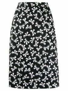 Yves Saint Laurent Pre-Owned bow print skirt - Black