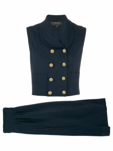 Chanel Pre-Owned gilet and skirt suit - Blue