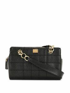 Chanel Pre-Owned Wild Stitch CC Chain Shoulder Bag - Black
