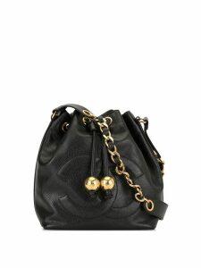 Chanel Pre-Owned CC Drawstring Chain Shoulder Bag - Black