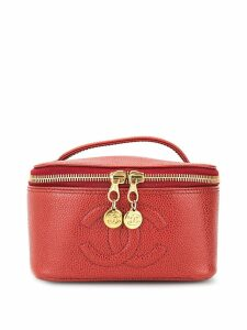 Chanel Pre-Owned CC Logos Cosmetic Hand Bag Vanity - Red