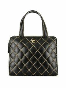 Chanel Pre-Owned Wild Stitch CC Logos Hand Bag - Black