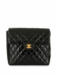 Chanel Pre-Owned quilted CC backpack - Black
