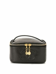 Chanel Pre-Owned CC Logos Cosmetic Vanity Hand Bag - Black