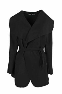 Womens Waterfall Coat - black - One Size, Black