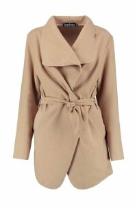 Womens Waterfall Coat - beige - One Size, Beige