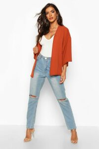 Womens Chiffon Kimono - orange - M/L, Orange