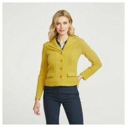 Chartreuse Boiled Wool Blazer