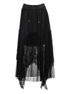 Sacai Skirt Plisse W/lace