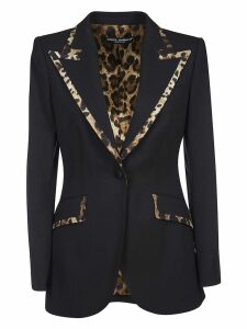 Dolce & Gabbana Reversible Leopard Single Breasted Blazer