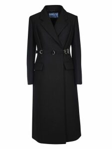 Prada Embellished Belt Coat