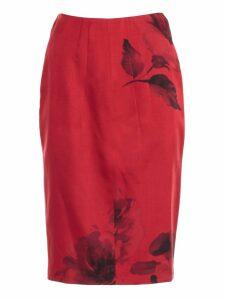 N.21 Skirt Pencil Roses Printing