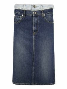 Maison Margiela Layered Denim Skirt