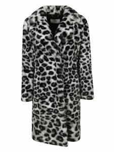 Alberta Ferretti Fur Trimmed Coat