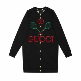 Gucci Logo Cardigan Gold Buttons Crewneck Reversible Multicolor