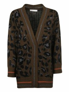 Fabiana Filippi Animal Print Cardi Coat