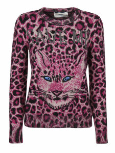 Alberta Ferretti Animal Print Sweater