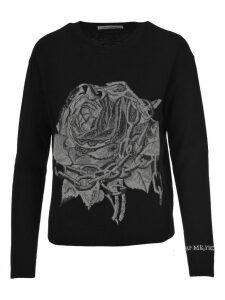 Valentino Rose Intarsia Sweater