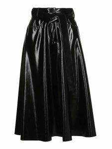 MSGM Vinyl Midi Skirt