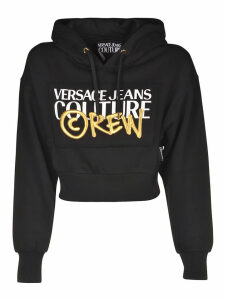 Versace Jeans Couture Printed Cropped Hoodie