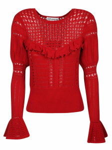 self-portrait Knitted Lace Top