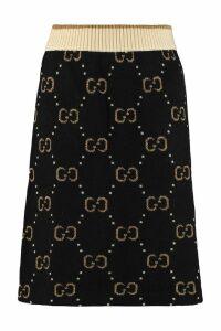 Gucci Jacquard Knit Skirt