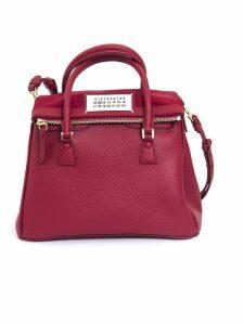 Maison Margiela Red Calf Leather Medium 5ac Tote Bag
