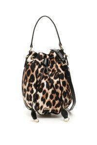 Miu Miu Animalier Bucket Bag With Charm