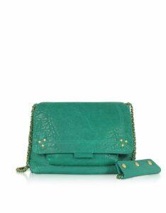 Jerome Dreyfuss Lulu M Lagoon Leather Shoulder Bag