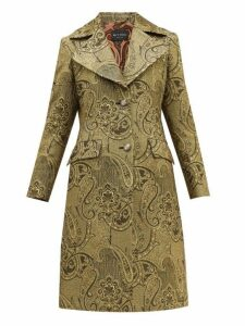 Etro - Cumbria Single Breasted Paisley Brocade Coat - Womens - Gold