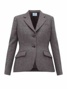 Prada - Galles Mouline Wool Blend Blazer - Womens - Grey