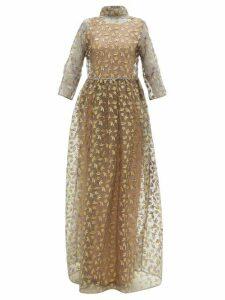 Maison Rabih Kayrouz - Star Embroidered Organza Gown - Womens - Grey Multi