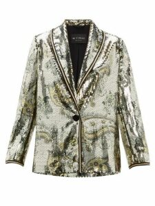 Etro - Cheshire Paisley Sequin Blazer - Womens - Gold