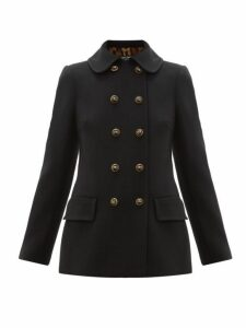 Dolce & Gabbana - Double Breasted Pea Coat - Womens - Black