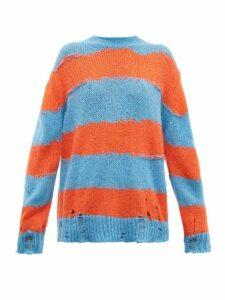 Acne Studios - Kantonia Striped Sweater - Womens - Blue Multi