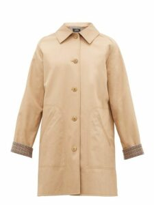 A.p.c. - India Cotton Gabardine Overcoat - Womens - Beige