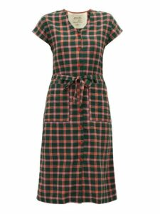 Ace & Jig - Gallo Checked Cotton Dress - Womens - Green Multi