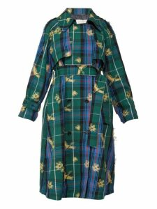 Golden Goose - Masami Bird Jacquard Checked Trench Coat - Womens - Multi