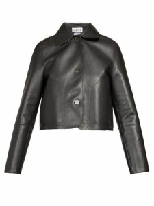 Loewe - Cropped Leather Jacket - Womens - Black