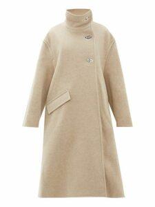 Acne Studios - Osandra Wool Blend A Line Overcoat - Womens - Beige