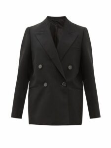 Acne Studios - Double Breasted Canvas Blazer - Womens - Black